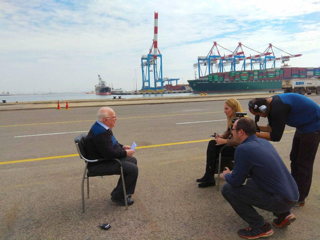 ראיון לעיתון גלובס: לשכת הספנות הישראלית